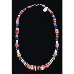 Navajo Tommy Singer Multi-Stone Large Necklace