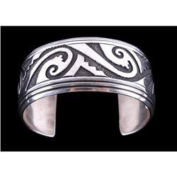 Navajo Tommy Singer Sterling Silver Bracelet Large