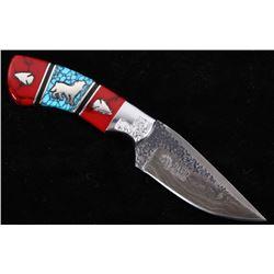 Navajo Yellowhorse Turquoise Custom Wolf Knife