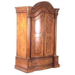 Collezione Europa Regency Burl Veneer Wood Armoire