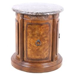 Collezione Europa Marble Solid Wood End Table