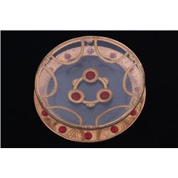 Peter Crisp 22K Red Chalcedony Bowl & Charger
