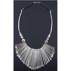 Navajo Native American Sterling Silver Necklace