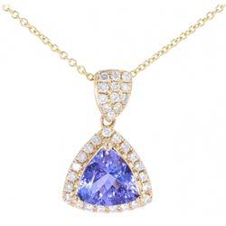 Classic Tanzanite & Diamond 14K Necklace