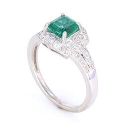 Luxury Designer Emerald & Diamond Platinum Ring