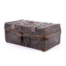 Frontiersman Brass Traveling Box c.1800's