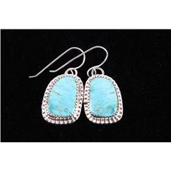 Navajo Beradine Begay Tsosie Kingman Earrings