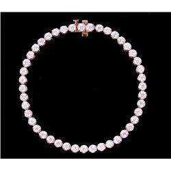 Classic 14K Rose Gold Diamond Bracelet w/ Papers