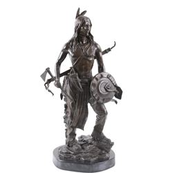 American Indian Warrior Cast Bronze Statue