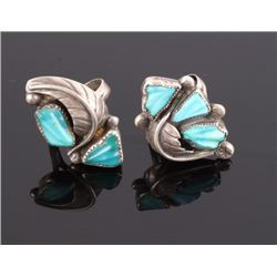 Navajo Native American Sterling & Turquoise Rings