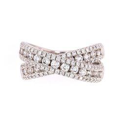 Outstanding 1.34ct Diamond Eternity 18K Gold Ring