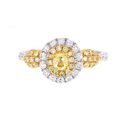Rare Helzberg Fancy Yellow Diamond 14K Gold Ring