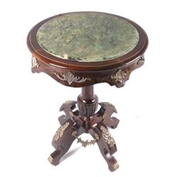 Napolenic III Marble & Bronze Occasional Table