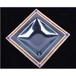 Peter Crisp 22K Lapis Lazuli Glass Bowl