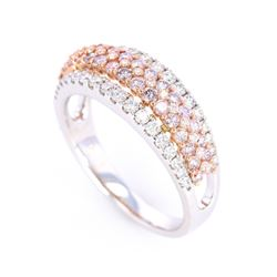 Beautiful Fancy Pink Diamond & White Diamond Ring
