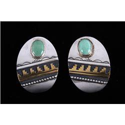 T. Singer Navajo Sterling & Turquoise Earrings