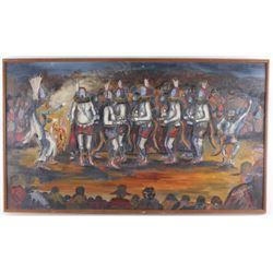 Original Yeibichai by Navajo Bobby Hicks 1934-2014