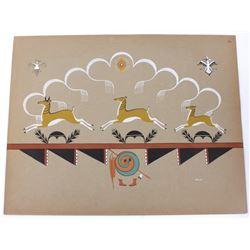 Velino Shije Herrera 1902-1973 Pueblo Indian Plate