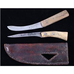 Blackfeet Belt Sheath & I. Wilson Knife 1800's