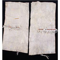 Crow Beaded Buffalo Hide Men's Leggings 1950-60's