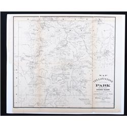 Yellowstone National Park Superintendent Map c1880