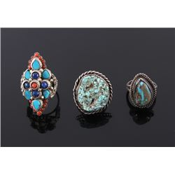 Navajo Sterling & Turquoise Ring Collection