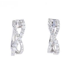1.28ct Diamond Eternity Hoop 14K Gold Earrings