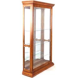 Pulaski Furniture Oak Glass Curio Display Cabinet
