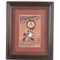 1985 Sun Face Kachina Dancer by Bruce Watchman
