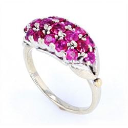 1940's 1.35 ct. Ruby and 14K Gold Ring w/ papers