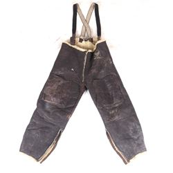 Army Airforce WWII Wool-Lined Leather Flight Pants