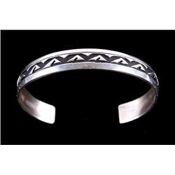 Navajo Tommy Singer Sterling Silver Bracelet