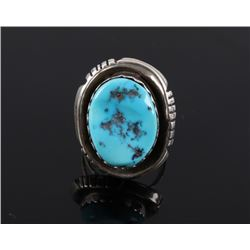 Navajo Sterling & Sleeping Beauty Turquoise Ring