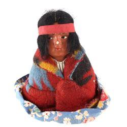 1939 Original Skookum Sitting Indian Doll