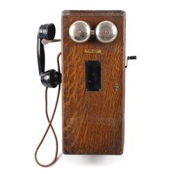 Early 1900's Western Electric Oak Wall Telephone