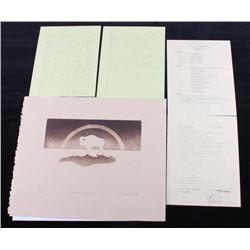 1981 Eternal Buffalo by Gary Yazzie Etching