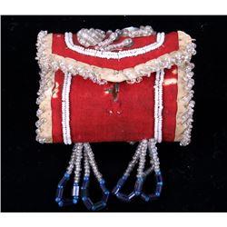 Iroquois Beaded Trinket Bag c. 1910-1920's