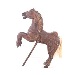 Primitive Hand Carved Carousel Horse