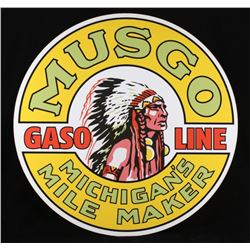 Musgo Gasoline Michigan's Mile Maker Sign Replica