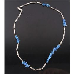Navajo Lapis Lazuli and Silver Necklace