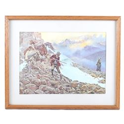 """Whose Meat"" Charles M. Russell Framed Print"