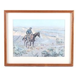 """The Wagon Boss"" Charles M. Russell Framed Print"