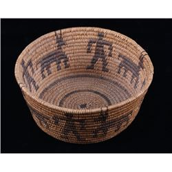 Early Papago Figural Hand Woven Basket