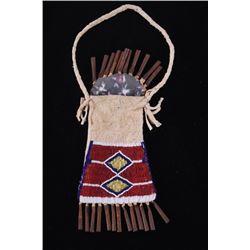 Lakota Sioux Fully Beaded Strik-A-Lite Bag