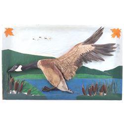 Big Sky Carvers Hand Carved Canada Goose Folk Art