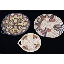 Hopi & Papago Hand Woven Coil Plaques