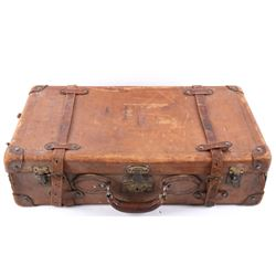1903 Pagoma Leather Wrapped Corbin Suitcase