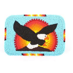 Crow Indian Trade Eagle Beaded Belt Buckle