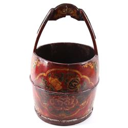 Chinese Import Hand Painted Decorative Barrel