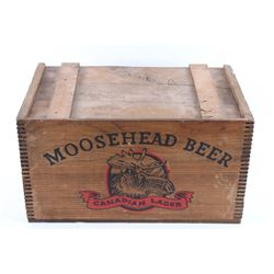 Moosehead Canadian Lager Wooden Adv. Box c.1900's